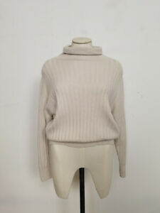 Jigsaw Ribbed Slouchy Jumper Stone Size XS RRP £130.00