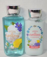 Bath and Body Works Sheer Cotton and Lemonade Body Lotion & Shower Gel New