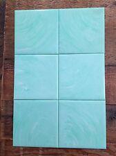 "Lot Homart Plastic Wall Tile Vtg Midcentury Teal Sea Foam Green 4"" ~50 Avail!"