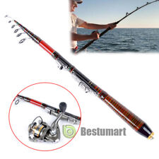 Light&Portable Carbon Fiber Telescopic Fishing Rod Travel Spinning Rod Pole 2.1m