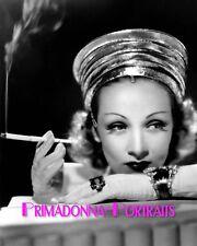 MARLENE DIETRICH 8X10 Lab Photo 1930s Elegant Smoking Seductress Portrait