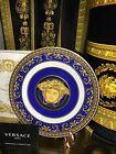 VERSACE MEDUSA PLATE BLUE ROSENTHAL 7