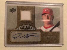 2009 UD Ballpark Collection Josh Hamilton Jersey Swatch Autograph Auto #JO