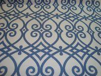 One yd Trend Jaclyn Smith FABRIC Gate Scroll Geometric 2968 Indigo Blue BTY