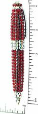 Ruby Red Crystal Pen Metal Ballpoint Ink Writing Pen Austrian Swarovski Crystal