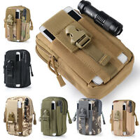 Tactical Molle Utility Pouch Belt Waist Pack Bag Outdoor Pocket /Molle Clip Cord