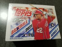 2021 Topps Baseball Series 1 Blaster Box Sealed 7 Packs w/ Patch Factory Sealed