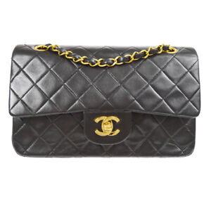 CHANEL Classic Double Flap Small Chain Shoulder Bag 3101848 vo Black 80579