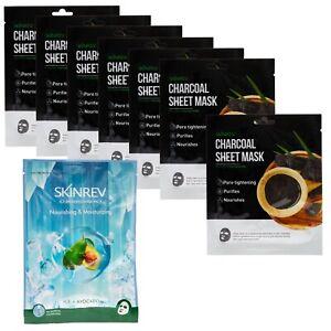 Skinrev Single Sheet Mask Pack- 7 Charcoal + 1 Ice Avocado