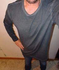 NEW Adidas Mens Long Sleeve Shirt ST MOD LS Dyed XL Gray AY9193
