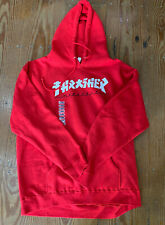 Thrasher Magazine Limited Release Japanese Godzilla Script Red Hoodie Size XL