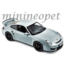 NOREV 187594 2007 PORSCHE 911 GT2 1/18 DIECAST MODEL SILVER with BLACK WHEELS