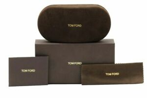 NEW TOM FORD EYEGLASSES SUNGLASSES BROWN LARGE BOX, CASE, SEALED CLOTH DOCUMENTS