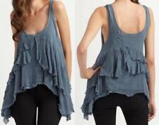 Tank, Cami Solid Tops for Women with Ruffle