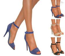 Stiletto Suede Party Sandals & Flip Flops for Women