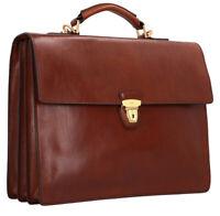 Cartella Ventiquattrore THE BRIDGE Briefcase borsa PELLE marrone 40x31x14 cm mad