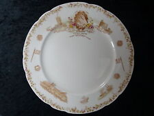 """Aynsley China Commemorative Plate - Queen Victoria 1897 Jubilee """"Sun Never Sets"""""""