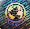 49x Welt Hologramm Holographische Silbern Manipulations Sicher Etikett Sticker
