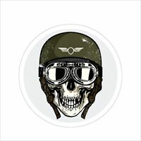 3M Graphics Army Skull Vinyl Danger Motorcycle Car Window Bumper Decal Sticker