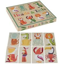Rex London COLOURFUL CREATURES HEADS AND TAILS CARD GAME