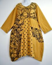 LAGEN LOOK 40% WOOL WINTER WEIGHT DRESS POCKETS 6 COLOURS ONE SIZE:Plus16-20
