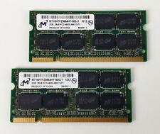 4GB (2x2GB) MEMORIA RAM DDR2 MICRON SODIMM 800MHz MT16HTF25664HY-800J1 LAPTOP