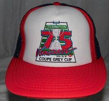 Vintage 1987 75 Vancouver Coupe Grey Cup CFL Football Hat Cap Deadstock Snapback
