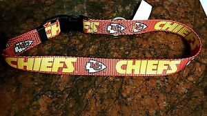KANSAS CITY CHIEFS, VINTAGE OOP DOG COLLAR or LEASH, MADE IN USA