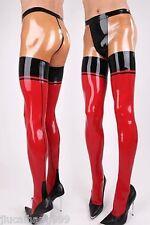 Men's 100% Latex Rubber Gummi 0.48mm Pantyhose Pants Trousers Stockings Suit