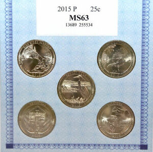 American Alliance Coin Set of Five 2015 P Quarters