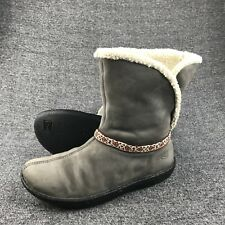 Womens Size 7.5 Keen Gray Leather Winter Boots