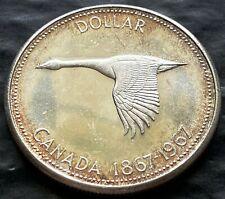 1967 Canada Silver $1 Dollar Coin - 80% Silver - Brilliant UNC