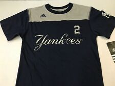 NEW YORK YANKEES MLB ADIDAS JETER #2 YOUTH NAME & NUMBER TEE SIZE SMALL -8