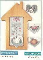 HOME IS WHERE THE HEART IS...4 SEASONS   - X  STITCH PATTERN ONLY -   HM - RUA