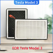 1X(for Tesla Model 3 Air-Filter HEPA 2 Pack with Activated Carbon Air Condi K9Q9