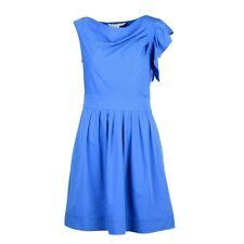 Diane Von Furstenberg DVF Women's Sz 2 Blue Tonnes Tech Stretch Poplin Dress