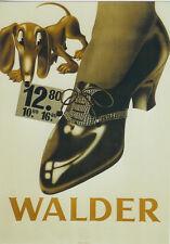 Original Plakat - Walder Schuhe
