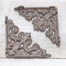 2 Antique Style Shelf Brace Wall Bracket Cast Iron Brackets SMALL Architectural