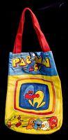 1982 ORIGINAL PAC-MAN Midway Arcade Vintage Cloth Tote BAG w/Handles