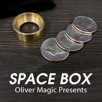 Space Box by Oliver Magic (Half Dollar) Close up Magic Tricks Illusions Comedy
