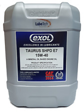 EXOL SHPD 15W40 E7 LONG DRAIN ENGINE OIL CUMMINS APPROVED 20 L CATERPILLAR