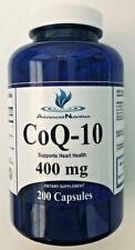 CoQ-10 400mg Per Serving 200 Capsules Coq10 Co Q10 Coenzyme Anti Aging Cardio