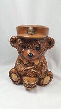 Great American Pottery Drummer Bear Cookie Jar