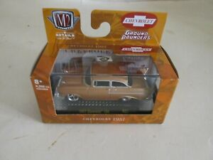 M2 Machines Ground Pounders 1957 Chevrolet Copper 150  R21 21-03  New Chevy 1:64