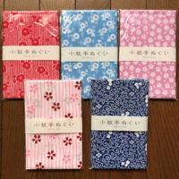 "Japanese printed hand towel ( tenugui ) 5pcs set  made in Japan ""flowers"""
