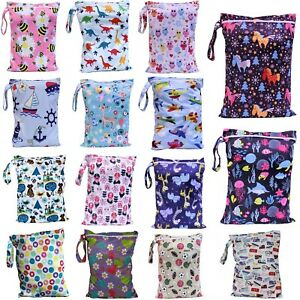 Waterproof Wet Bag 30x40cm for Nappies, Swimming, Wet Clothes, nappy bags large