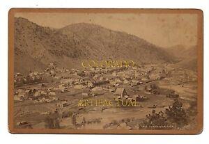 IDAHO SPRINGS COLORADO #1812 William Henry Jackson cabinet card photo  ca 1895