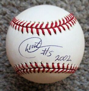 DAVID MATRANGA Signed Rawlings MLB Baseball - HOUSTON ASTROS Only MLB Hit a HR