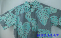 Cooke Street Honolulu Men's Hawaiian Camp Shirt Size M Cotton Made In Hawaii