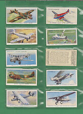 Aircraft 1918 - 1939 Collectable Player's Cigarette Cards
